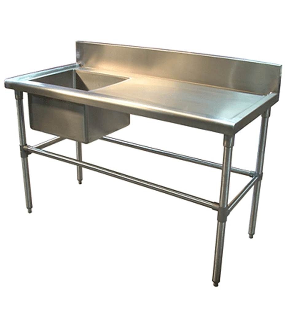 Stainless Steel Single Bowl Sink Table